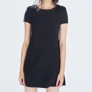 Zara basic black mini dress